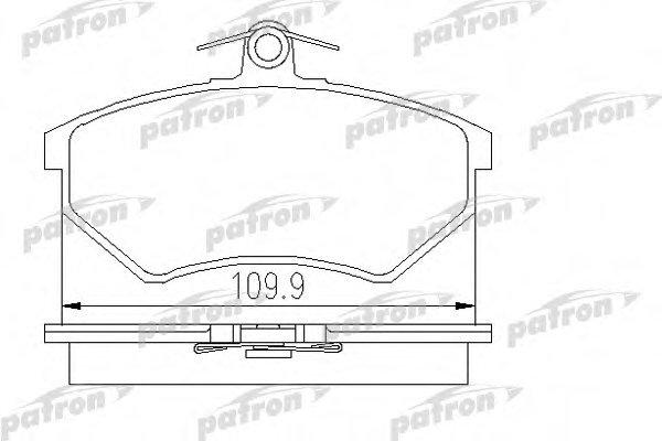 Тормозные колодки дисковые Patron PBP774