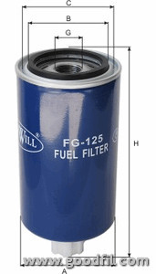 Топливный фильтр Goodwill FG125FG125Фильтр топливный Goodwill. FG125