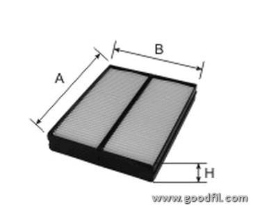 Салонный фильтр Goodwill AG5652KCF салонный фильтр goodwill ag932cfc