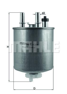 Фильтр топливный Mahle KL834KL834