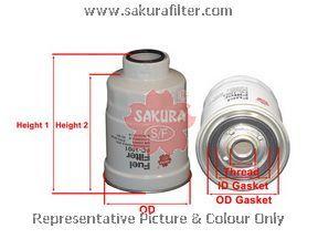 Топливный фильтр Sakura FC1001FC1001Фильтр топл. Sakura Sakura авто. FC1001