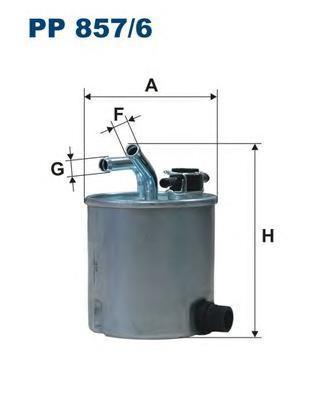 Фильтр топливный Filtron PP857/6PP857/6