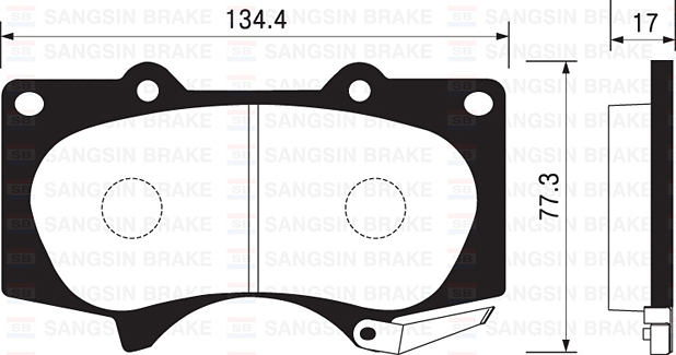 Колодки тормозные дисковые Sangsin. SP2033SP2033