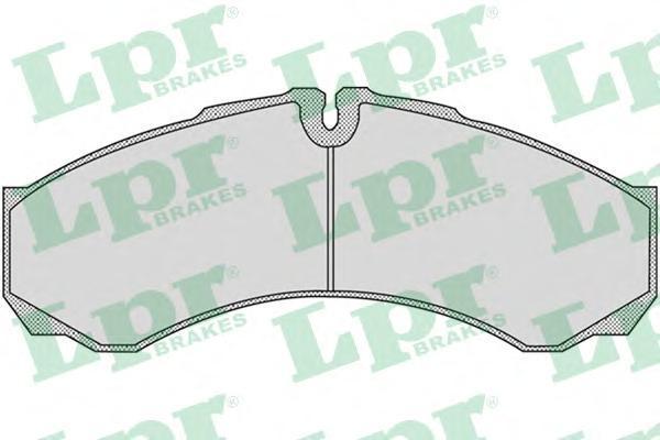 Колодки тормозные передние LPR / AP 05P95505P955