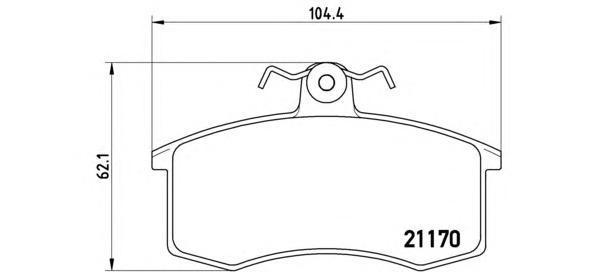 Тормозные колодки дисковые Brembo P41003 мебельный степлер gross 41003