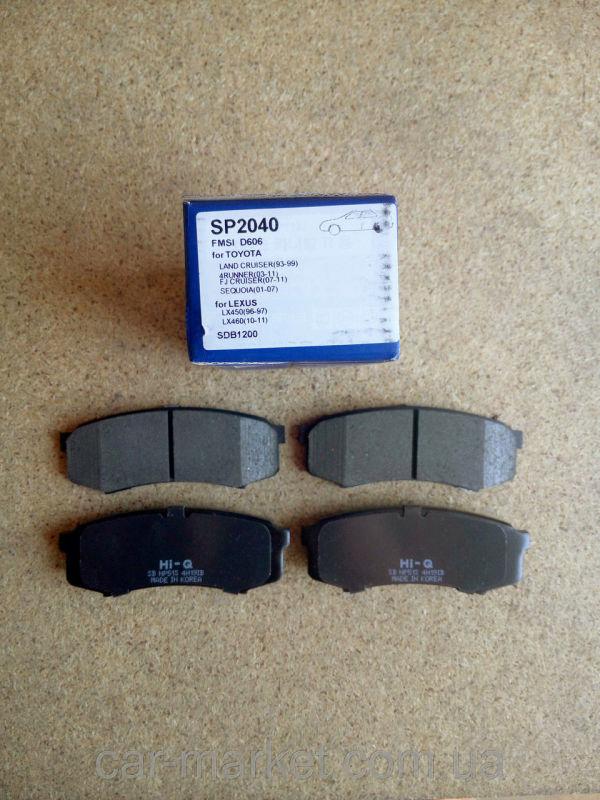 Колодки тормозные дисковые Sangsin. SP2040SP2040