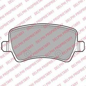 Тормозные колодки дисковые  DELPHI LP2008 какой фирмы лучше тормозные колодки на мазду 6