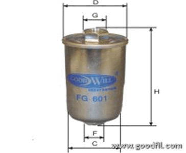 Топливный фильтр Goodwill FG601FG601Фильтр топл. 601 FG GW CHEVROLET, DAEWOO, OLDSMOBILE Goodwill. FG601