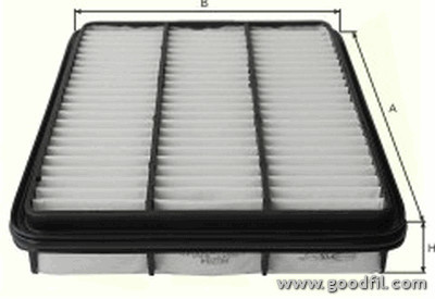 Воздушный фильтр Goodwill AG284AG284Фильтр возд. 284 AG GW TOYOTA LC Goodwill. AG284