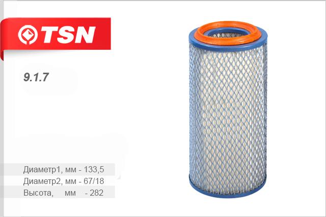Воздушный фильтр TSN 917917Эл фил воз HYUNDAI-PORTER фильтр воздуш TSN. 917