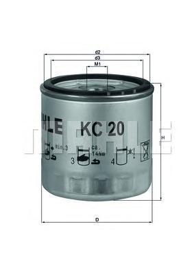 Фильтр топливный Mahle KC20KC20