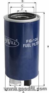 Топливный фильтр Goodwill FG126FG126Фильтр топл. 126 FG GW КАМАЗ, КАВЗ, ПАЗ с дв. CUMMENS Goodwill. FG126