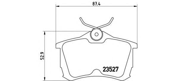 Тормозные колодки дисковые Brembo P28030P28030Колодки тормозные дисковые Brembo. P28030