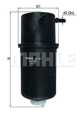 Фильтр топливный Mahle KL787KL787