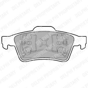 Тормозные колодки дисковыеDELPHI LP1701LP1701Колодки тормозные задание дисковые DELPHI Opel Vectra C/Nissan Primera 02-/Ford Focus C-Ma. LP1701