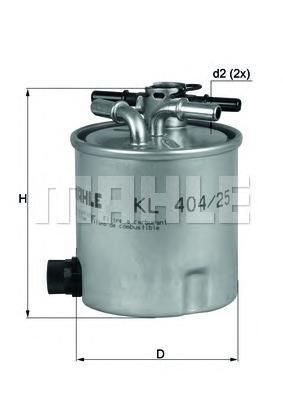 Топливный фильтр Mahle/Knecht KL40425KL40425Фильтр топливный RENAULT LOGAN/SANDERO 1.5D 05- Mahle/Knecht. KL40425