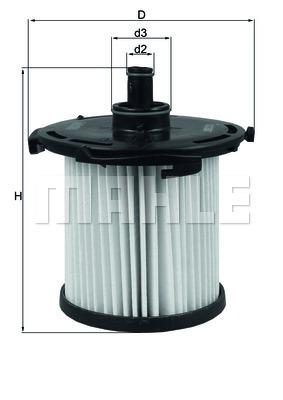 Фильтр топливный Mahle KX387DKX387D