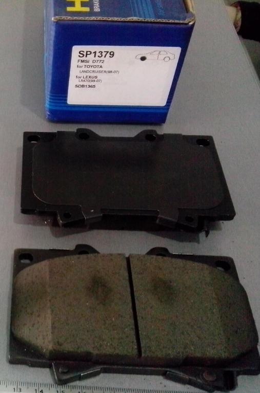 Тормозные колодки дисковые Sangsin SP1379SP1379Колодки тормозные передние Sangsin. SP1379