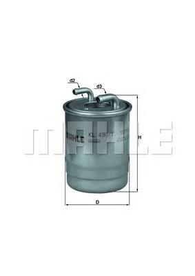 Фильтр топливный Mahle KL490/1DKL490/1D