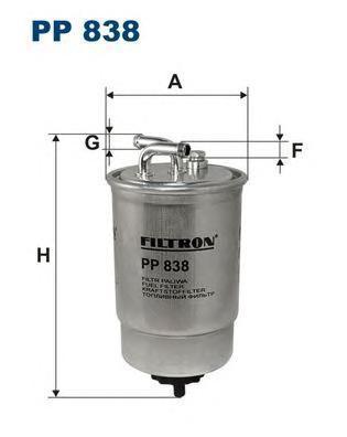 Фильтр топливный Filtron PP838PP838