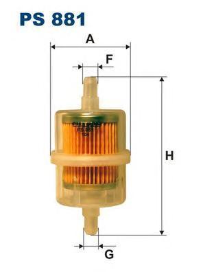 Фильтр топливный Filtron PS881PS881