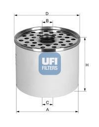 Фильтр топливный дизель UFI 24.361.0024.361.00