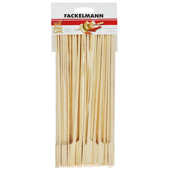 """Палочки-шампуры """"Fackelmann"""", выполненные из дерева,  предназначены для приготовления шашлыков из мяса, рыбы,  птицы и овощей."""