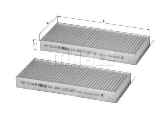 Салонный фильтр Mahle/Knecht LA356SLA356S[LA356S] Knecht (Mahle Filter)Фильтр салона Mahle/Knecht. LA356S