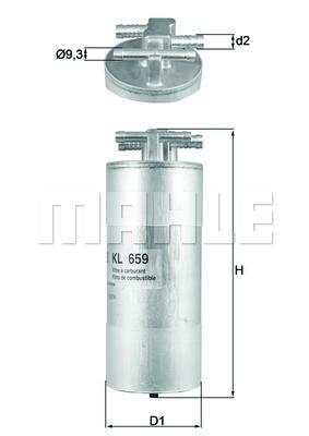 Фильтр топливный Mahle KL659KL659