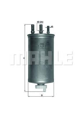 Фильтр топливный Mahle KL781KL781