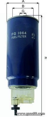 Топливный фильтр Goodwill FG1064FG1064Фильтр топл. 1064 FG GW DAF, KAMAZ, VAN Goodwill. FG1064
