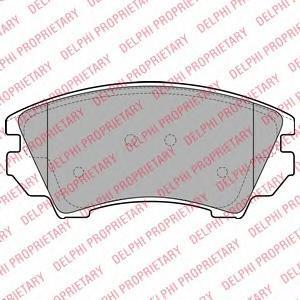 Тормозные колодки дисковыеDELPHI LP2081LP2081Колодки тормозные дисковые DELPHI. LP2081