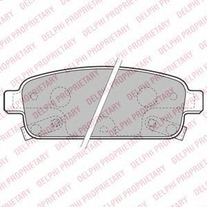 Тормозные колодки дисковыеDELPHI LP2167LP2167Колодки тормозные дисковые DELPHI. LP2167