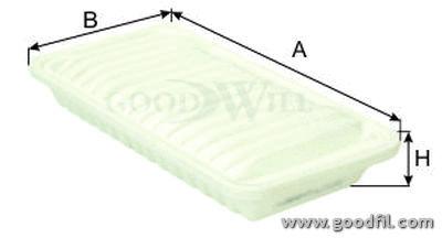 Воздушный фильтр Goodwill AG302ECOAG302ECOВоздушные фильтры Goodwill. AG302ECO