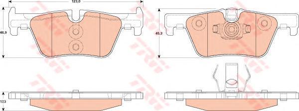 Тормозные колодки дисковые TRW / Lucas GDB1919GDB1919Колодки тормозные TRW / Lucas. GDB1919