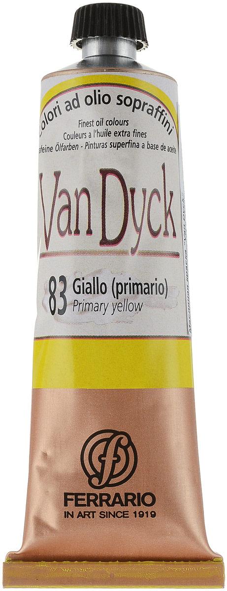 Ferrario Краска масляная Van Dyck цвет №83 основной желтыйAV0017CO83Масляные краски серии Van Dyck итальянской компании Ferrario изготавливаются из натуральных мелко тертых пигментов с добавлением качественного связующего материала. Благодаря этому масляные краски Van Dyck обладают превосходной светостойкостью, чистотой цветов и оттенков. Краски можно разбавлять льняным маслом, терпентином или нефтяными разбавителями. Все цвета хорошо смешиваются между собой. В серии масляных красок Van Dyck представлено 87 различных оттенков, а также 6 металлических оттенков.