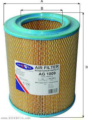 Воздушный фильтр Goodwill AG1009 автомобиль газ 3307 3309 бу в курган тюмень челябинск екатеринбург