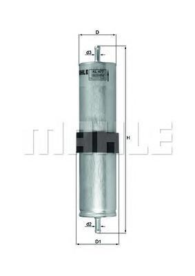 Топливный фильтр Mahle/Knecht KL477KL477Фильтр топливный MINI: MINI 03- Mahle/Knecht. KL477