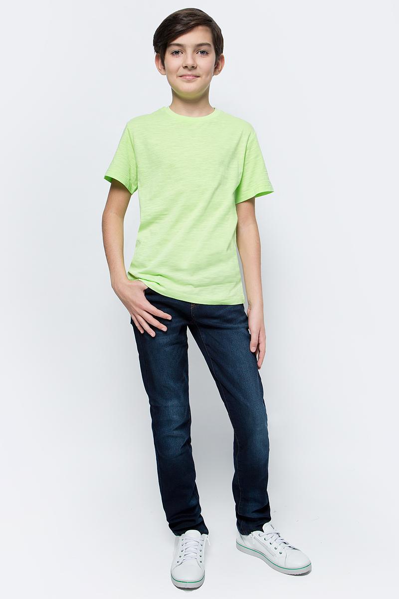 Футболка для мальчика Sela, цвет: зеленый. Ts-811/608-7224. Размер 128, 8 летTs-811/608-7224Стильная футболка для мальчика Sela изготовлена из натурального хлопка однотонного цвета. Воротник дополнен мягкой трикотажной резинкой. Универсальная модель позволит создавать комбинации, как в повседневном, так и в спортивном стиле.