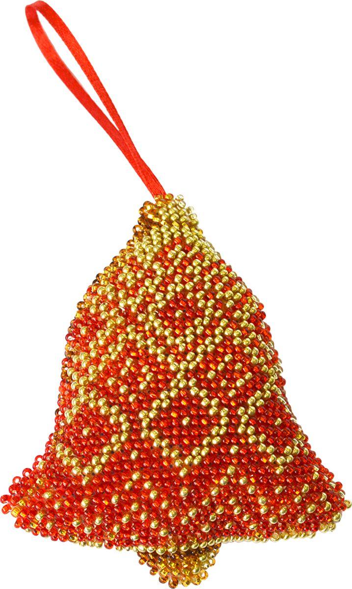 """Набор для вышивания бисером Созвездие """"Новогодняя игрушка. Красный колокольчик"""", 9,5 х 8 см"""