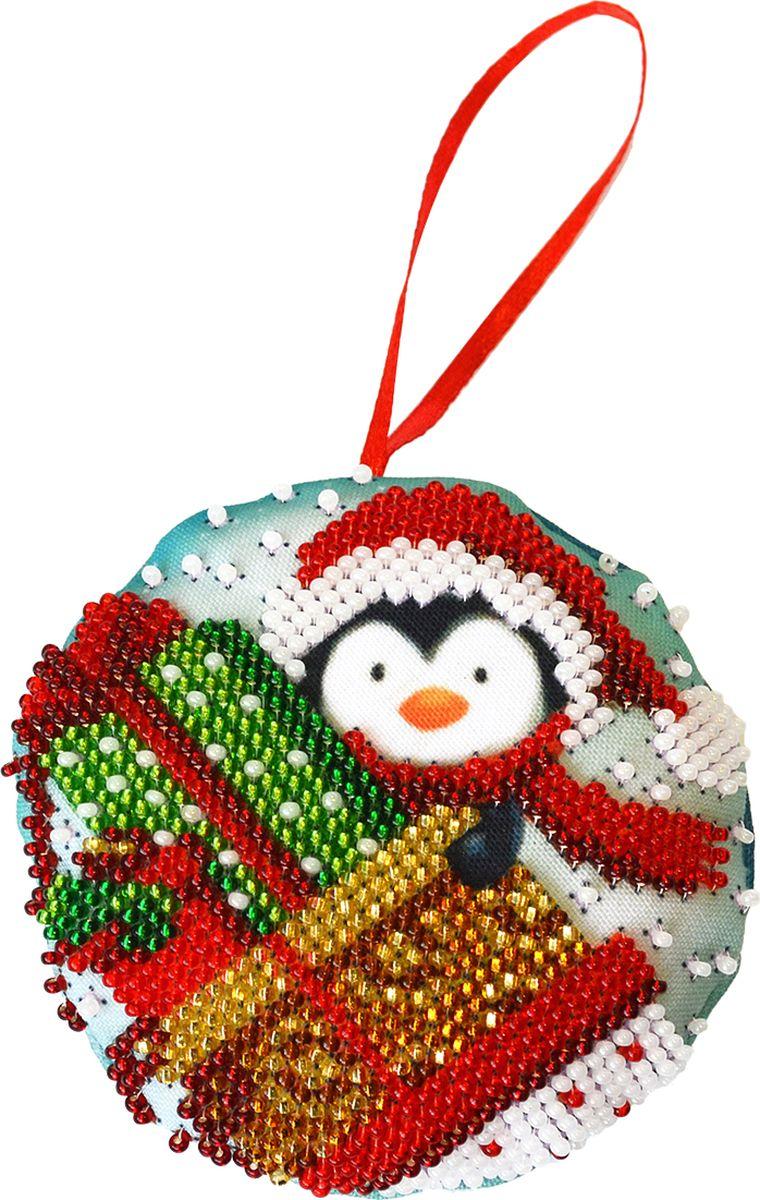 """Набор для вышивания бисером Созвездие """"Новогодняя игрушка. Подарки"""", 8,5 х 8,5 см"""