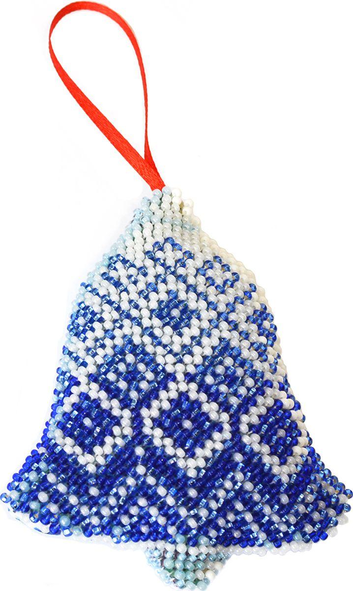 """Набор для вышивания бисером Созвездие """"Новогодняя игрушка. Синий колокольчик"""", 9,5 х 8 см"""