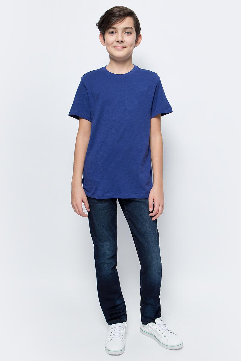Футболка для мальчика Sela, цвет: чернильный синий. Ts-811/608-7224. Размер 152, 12 летTs-811/608-7224Стильная футболка для мальчика Sela изготовлена из натурального хлопка однотонного цвета. Воротник дополнен мягкой трикотажной резинкой. Универсальная модель позволит создавать комбинации, как в повседневном, так и в спортивном стиле.