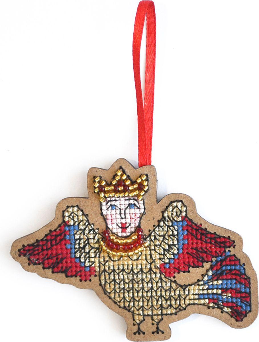 Набор для вышивания крестом Созвездие Птица счастья. Алконост птице-дева, 6,5 х 8,5 см набор для вышивания крестом матренин посад ландыши 19 5 х 19 5 см