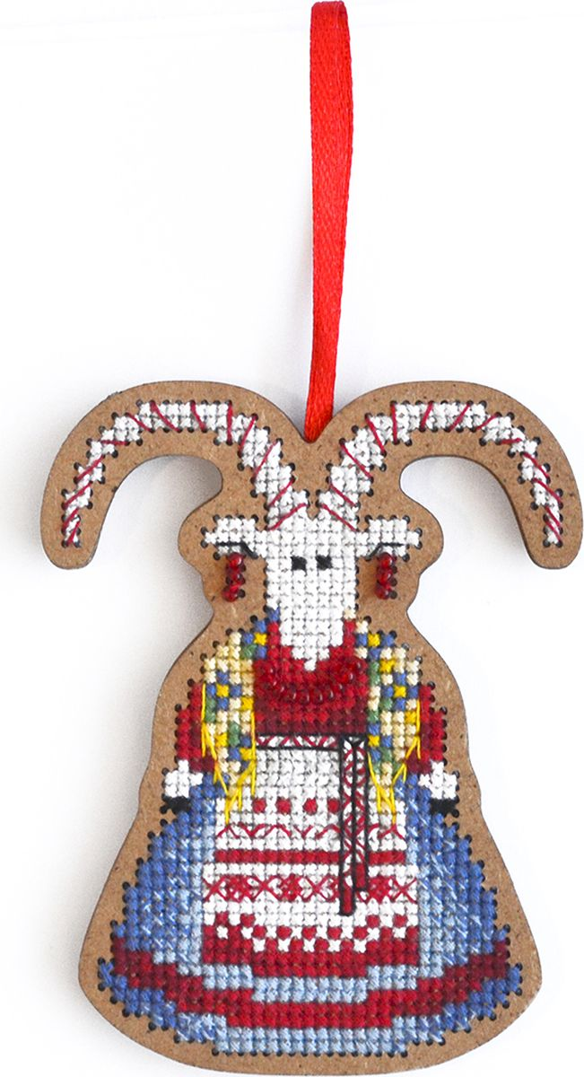 """Набор для вышивания крестом Созвездие """"От нечистой силы. Коза"""", 9 х 7 см"""