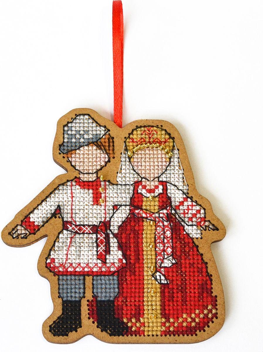 Набор для вышивания крестом Созвездие Символ любви и семьи. Неразлучники, 9 х 8,5 см набор для вышивания крестом rto чайник с брелоком 3 х 3 см