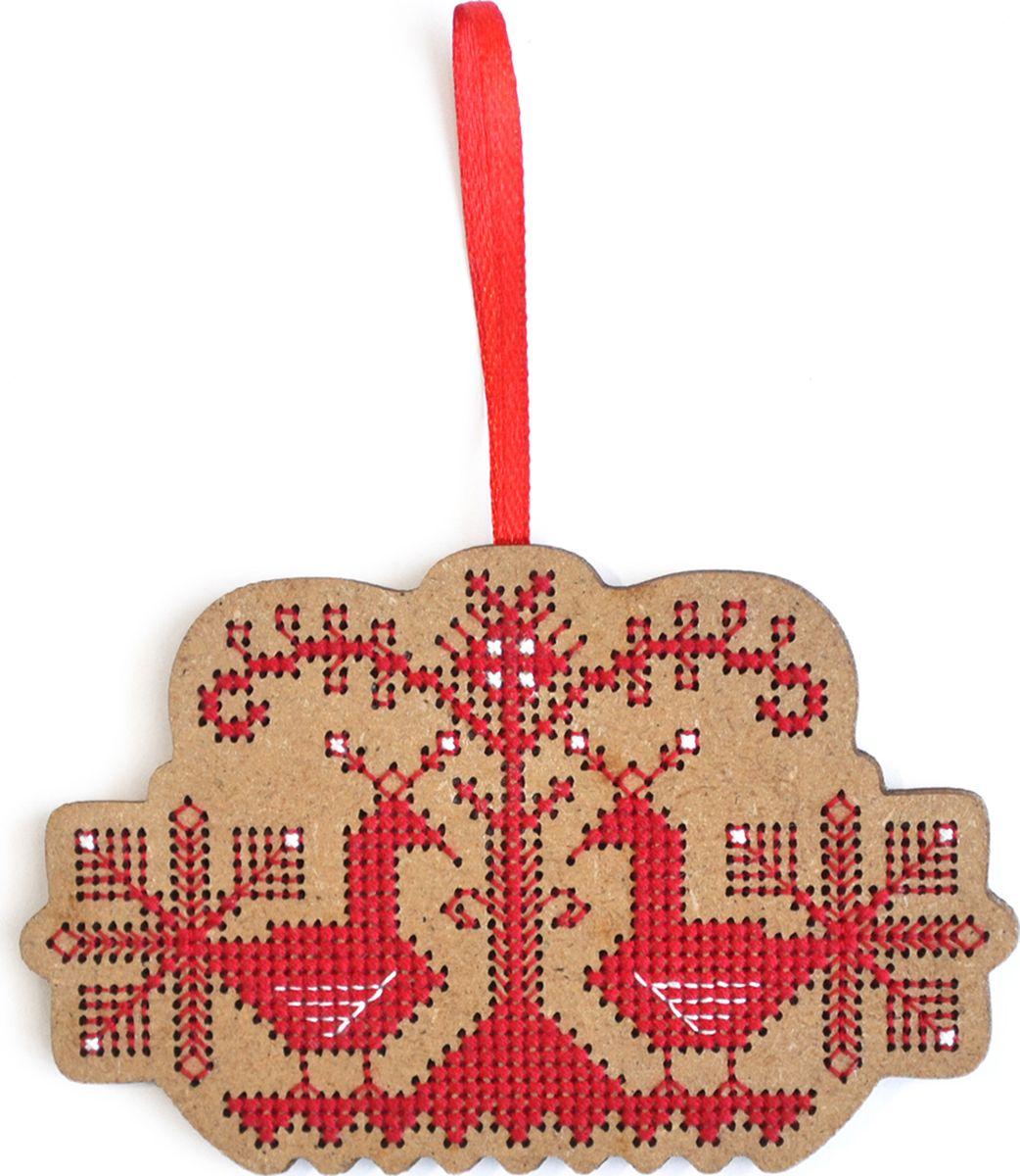 Набор для вышивания крестом Созвездие Свадебный оберег. Птицы, 6,5 х 10 см сувенир мкт оберег для кошелька ложка загребушка классическая