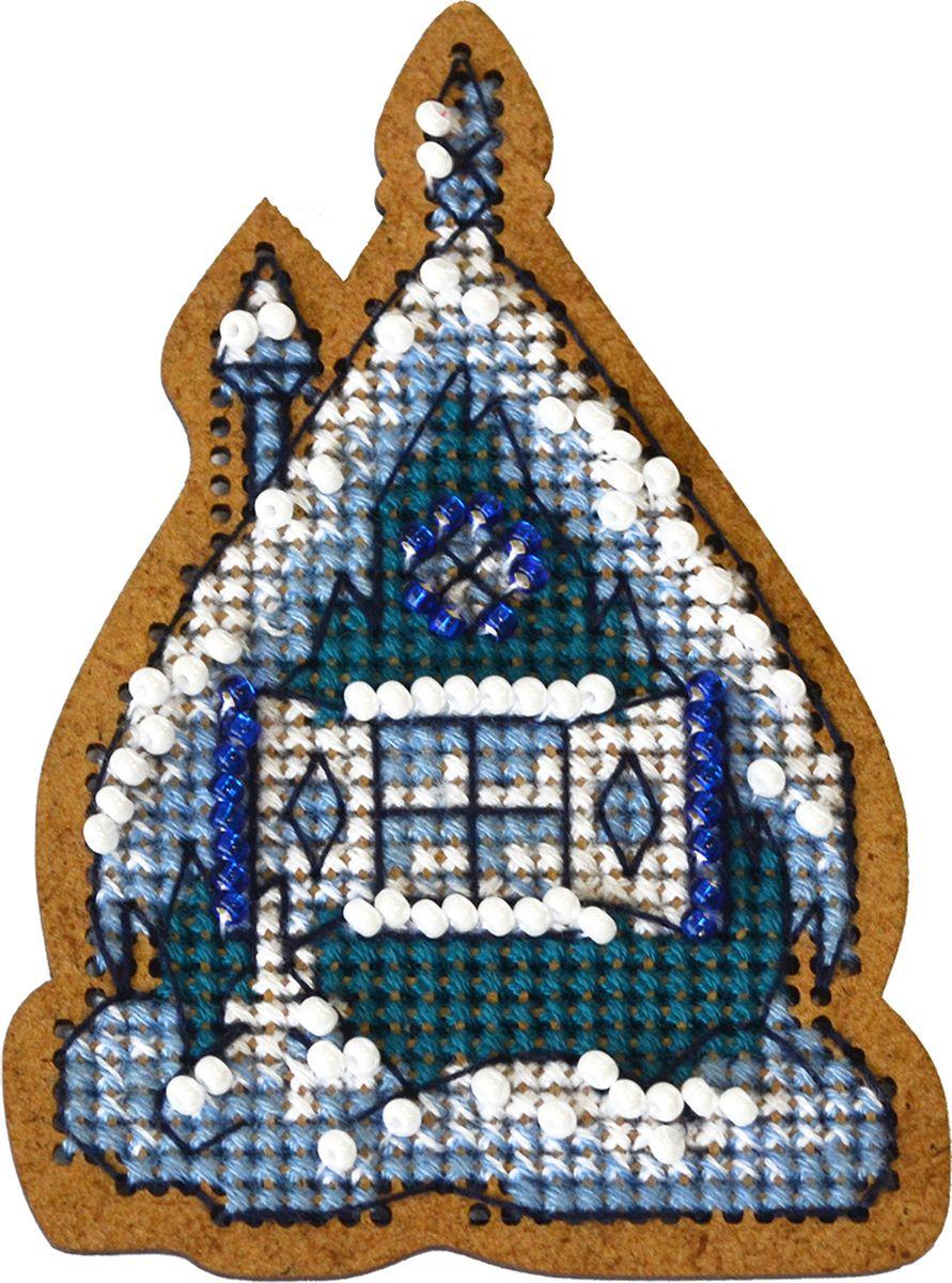 Набор для вышивания крестом Созвездие Новогодняя игрушка. Теремок, 4,5 х 8 см набор для вышивания крестом luca s дневной котенок 5 5 х 10 см