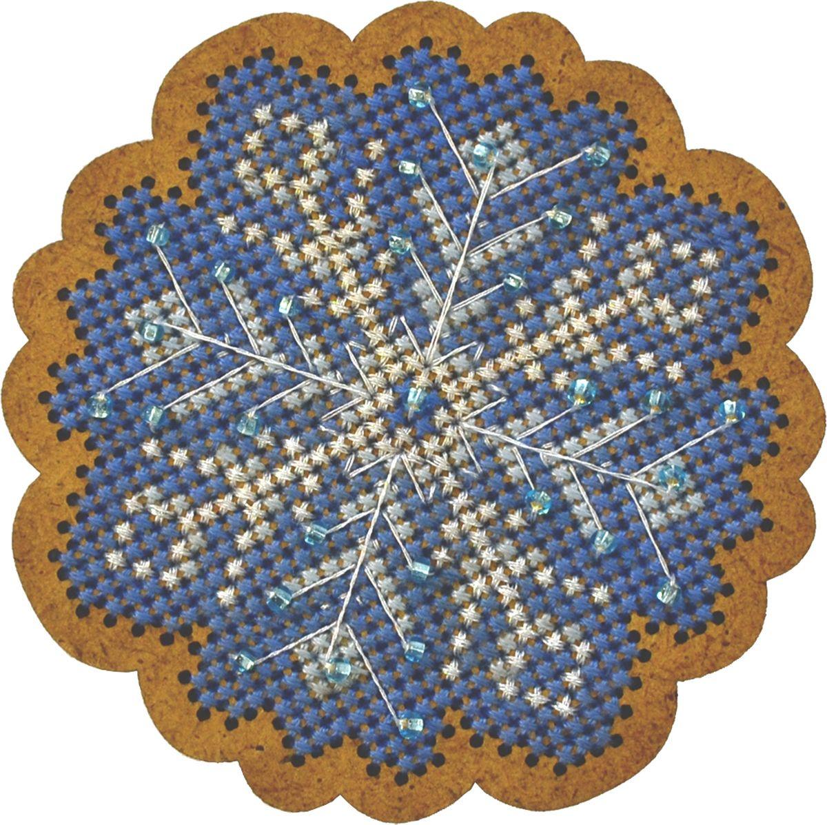 Набор для вышивания крестом Созвездие Новогодняя игрушка. Морозный узор, 6,5 х 6,5 см набор для вышивания крестом luca s дневной котенок 5 5 х 10 см