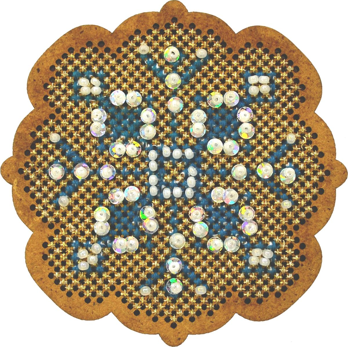 """Набор для вышивания крестом Созвездие """"Новогодняя игрушка. Снежинка"""", 6,5 х 6,5 см"""